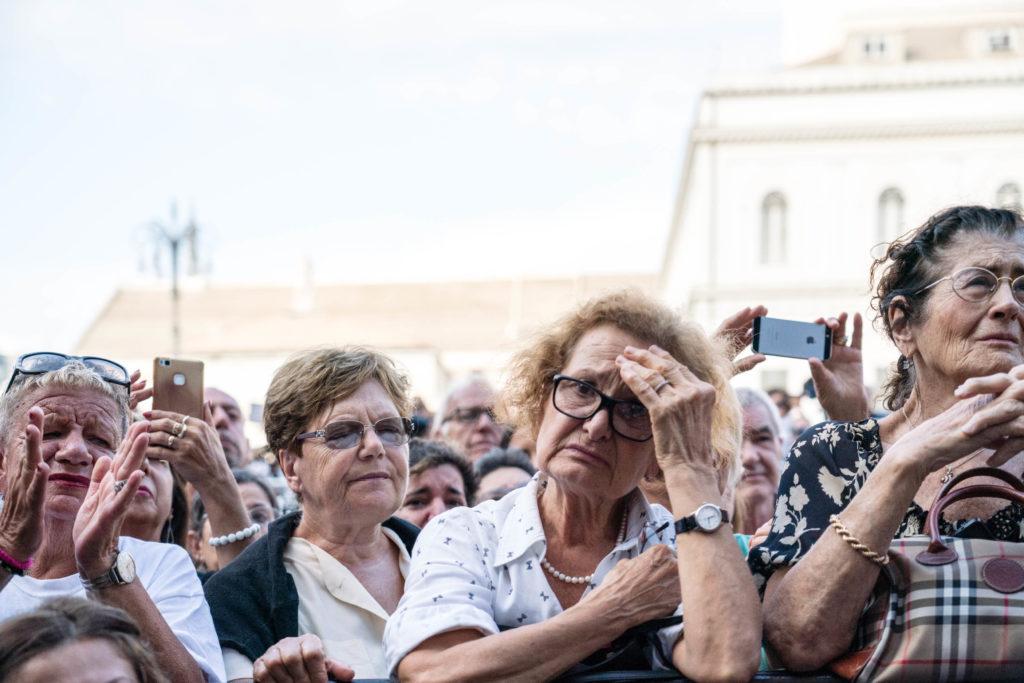 Commemorazione vittime del crollo Ponte Morandi in Piazza De Ferrari